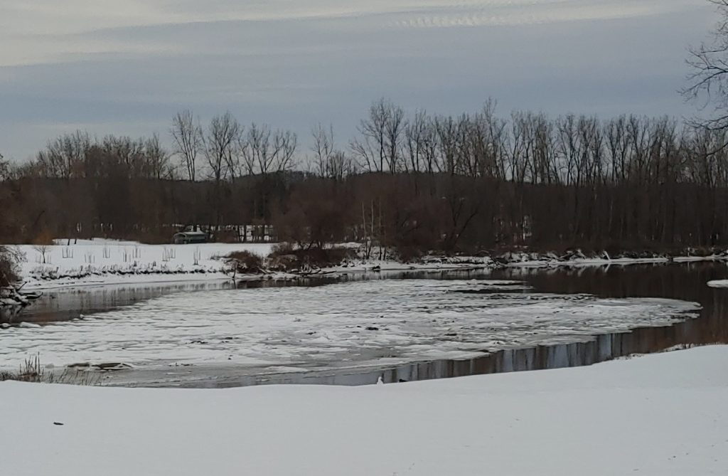 Fish Creek in Central New York in winter