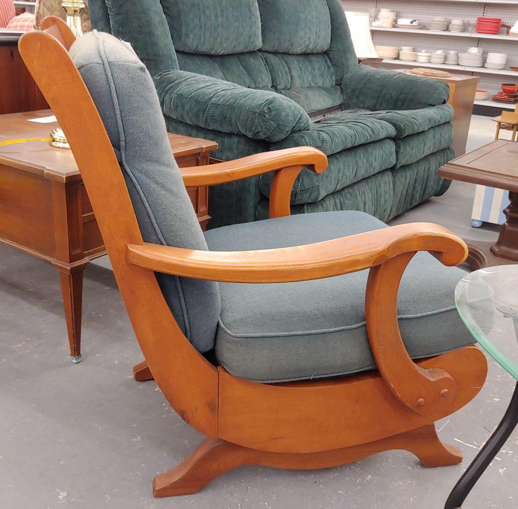 Mid-century platform rocking chair